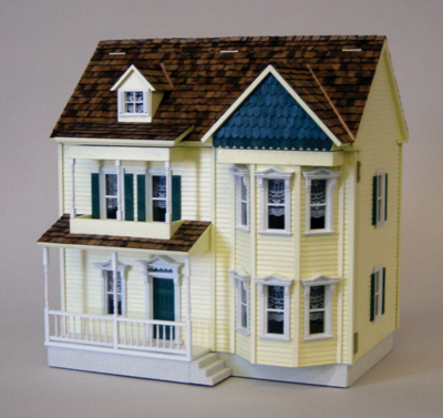 1 2 scale dollhouse kits monumental miniatures for Victorian kit homes